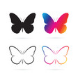 group of butterfly design on white background vector image vector image