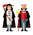 Halloween characters Cartoon vector image vector image