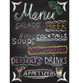 Hand drawn restaurant menu elements vector image vector image