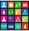 human resources and management icon series vector image vector image