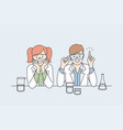 laboratory research and tests for kids concept vector image