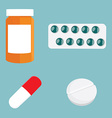 Medication icon set vector image