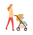 mom with child walking with baby vector image vector image