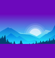 mountains and forest vector image vector image