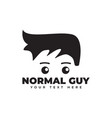 normal guy graphic design template isolated vector image vector image