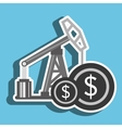 oil and currency isolated icon design vector image vector image