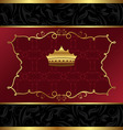 ornate decorative background with crown vector image
