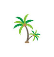 palm tree graphic design template vector image