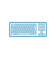 pc keyboard linear icon concept pc keyboard line vector image
