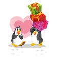 Penguins with gifts vector image