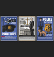 police officer department court lawyer firm vector image vector image