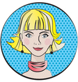 portrait of a young girl in pop art style vector image