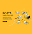 postal mail correspondence vector image vector image