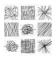 random chaotic asymmetrical lines abstract modern vector image