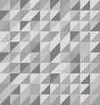 Retro triangle pattern with gray background vector image vector image