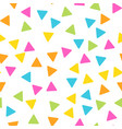 seamless abstract geometric pattern of triangles vector image vector image