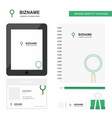 search business logo tab app diary pvc employee vector image vector image