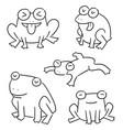 set of frog vector image