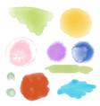 set watercolor hand drawn brush strokes of vector image