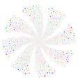 space star fireworks swirl flower vector image vector image