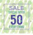 Special Offer 50 Percent On Colorful Green Bubbles vector image vector image