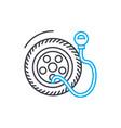 tire pressure thin line stroke icon tire vector image vector image