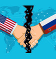 trade war policy between usa and russia vector image