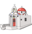 traditional greek church vector image vector image