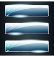 Transparent glass banners with color elements vector image vector image