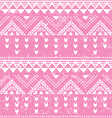 Tribal pattern pink aztec print - old grunge vector image vector image