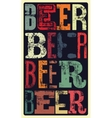 Typographical vintage style Beer poster design vector image vector image