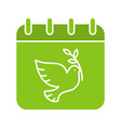 world peace day glyph color icon vector image
