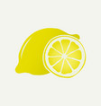 yellow lemon fruit slice symbol vector image vector image