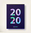 2020 new year card greeting card modern covers vector image vector image