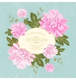 beautiful card with a wreath different color vector image