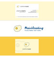beautiful fry egg logo and business card vertical vector image vector image