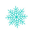big blue snowflake poster on vector image
