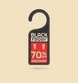 black friday discount card vector image vector image