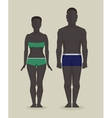 Black man and woman bodies vector image vector image