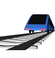 blue Fast train on white vector image vector image