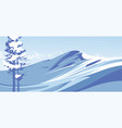 blue mountains with snow against the blue sky vector image vector image
