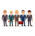 business man set of businessman character in vector image vector image