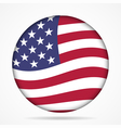button with waving flag of USA vector image