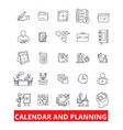calender and planning schedule planner vector image