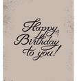 Calligraphic retro Birthday Card vector image