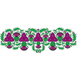 celtic border with flowers of the thistle vector image vector image