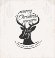 Christmas Greeting Design Element with Reindeer vector image vector image