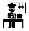 cooker - shef - kitchen restaurant icon vector image vector image
