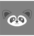 cute raccoon face background vector image