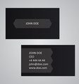 Dark business card template vector image